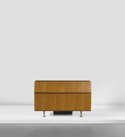 Unique cabinet, designed for the study of Casa F., Milan