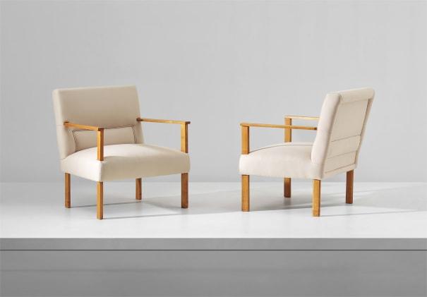 Unique pair of armchairs, designed for villa M., Cantù