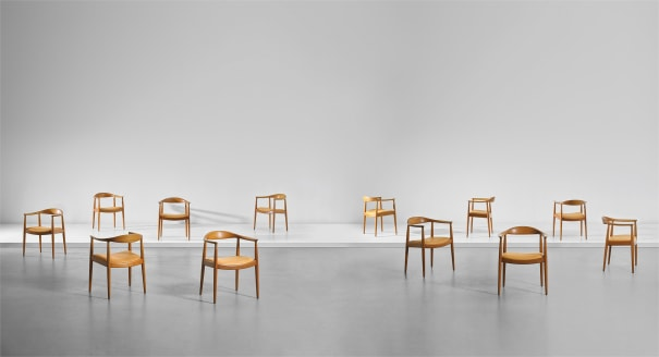 Sensational Hans J Wegner Set Of Twelve The Chair Armchairs Model Pdpeps Interior Chair Design Pdpepsorg