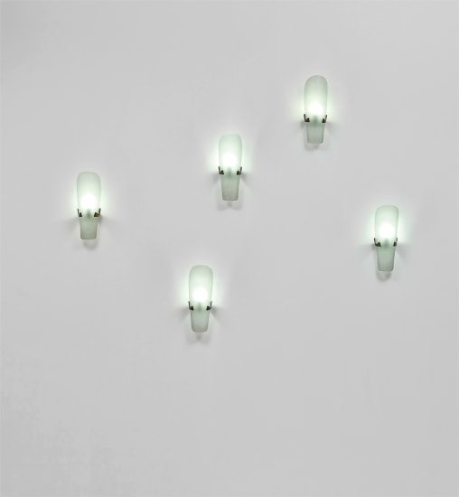 Set of five wall lights, model no. 1636