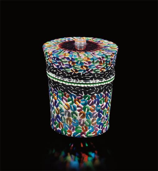 Unique 'Anello' vase, from the 'Foglie di Ninfee' series