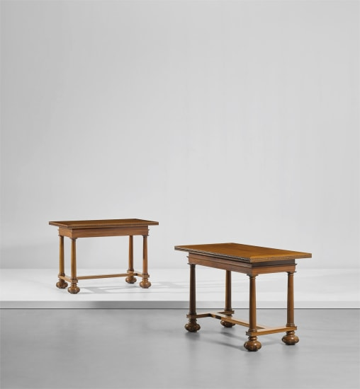 Important pair of tables, designed for the Midland Bank Limited, New Head Offices, Poultry, London