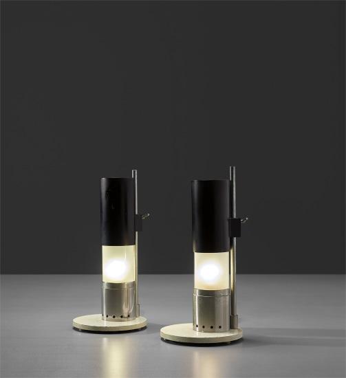Pair of 'Cartuccia' adjustable table lamps, model no. 12445