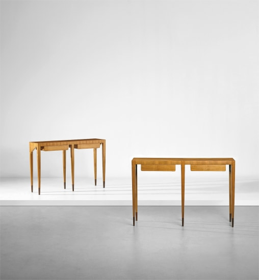 Two console tables