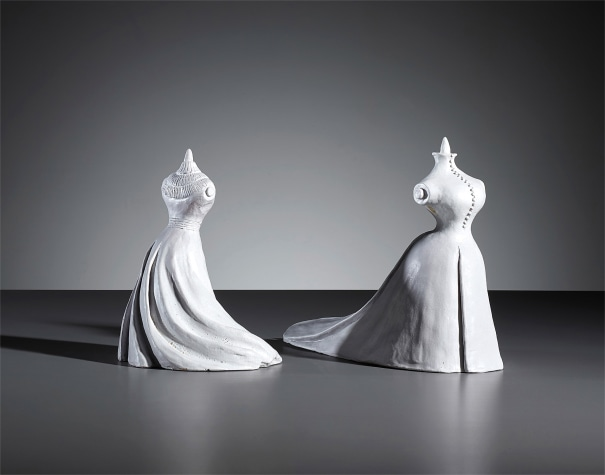 Two female mannequin figures