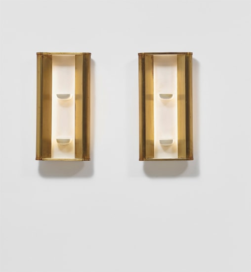 Pair of wall lights with niches