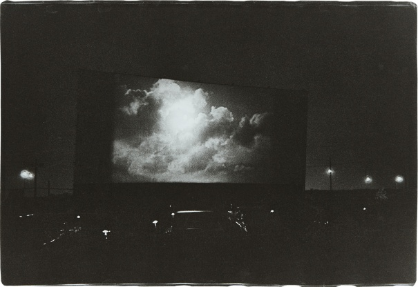 Clouds on Screen at a Drive-In Movie, N.J.