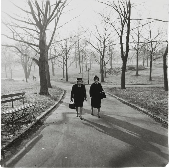 Two Ladies Walking In Central Park, N.Y.C.