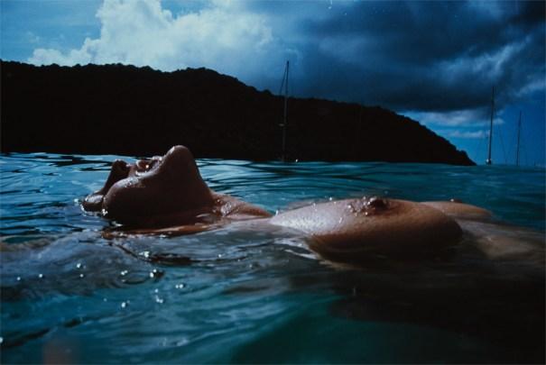 Valerie Floating in the Sea, Mayreau Island