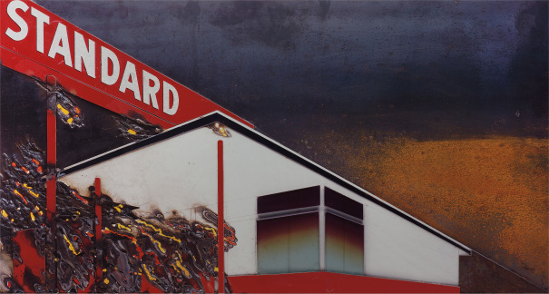 Burning Standard, after Ed Ruscha from Pictures of Cars