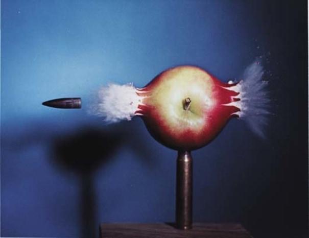 Bullet through Apple
