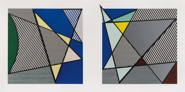 """Imperfect Diptych 46 1/4"""" x 91 3/8"""", from Imperfect Series"""