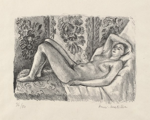 Nu couché au paravent Louis XIV (Nude Lying in Front of a Louis XIV Screen)