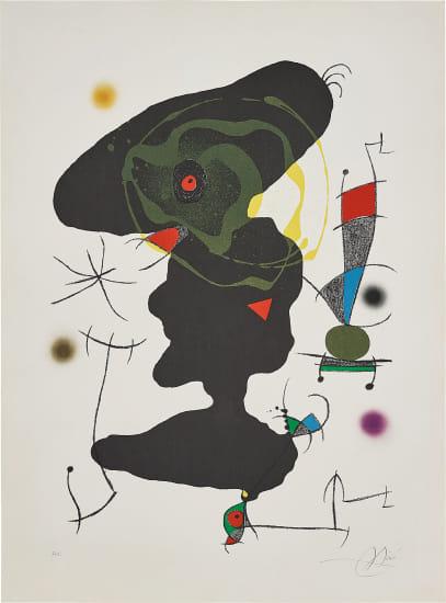 Oda à Joan Miró (Ode to Joan Miró): plate V