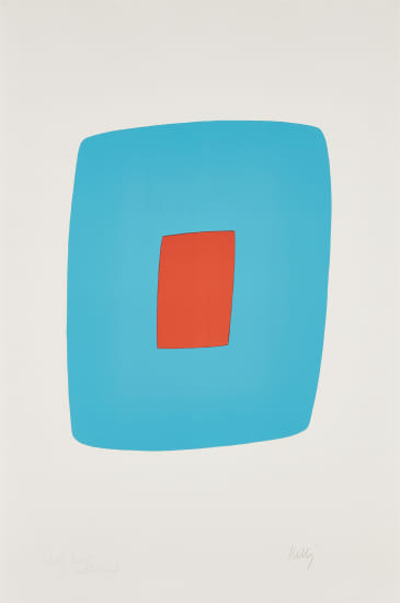 Light Blue with Orange (Bleu clair avec orange), from Suite of Twenty-Seven Color Lithographs