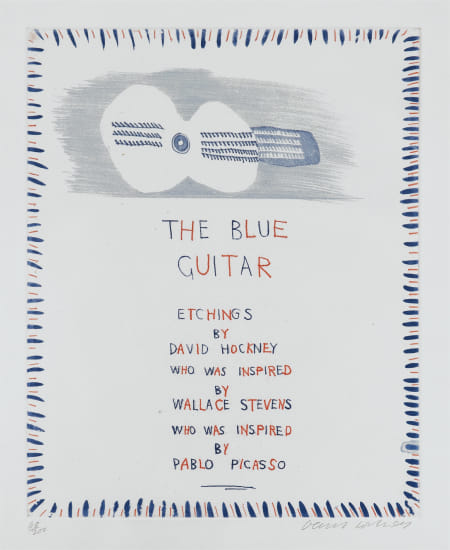 The Blue Guitar: title page
