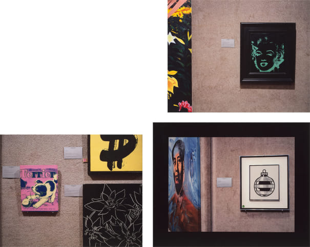 Untitled (Marilyn); Untitled (three Warhols); and Untitled (Mao/Lichtenstein)