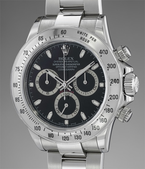 An attractive stainless steel chronograph wristwatch with bracelet, guarantee and fitted presentation box