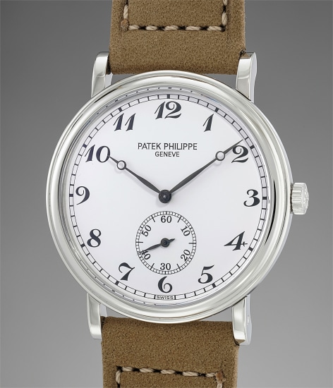 A rare and attractive platinum wristwatch with original certificate