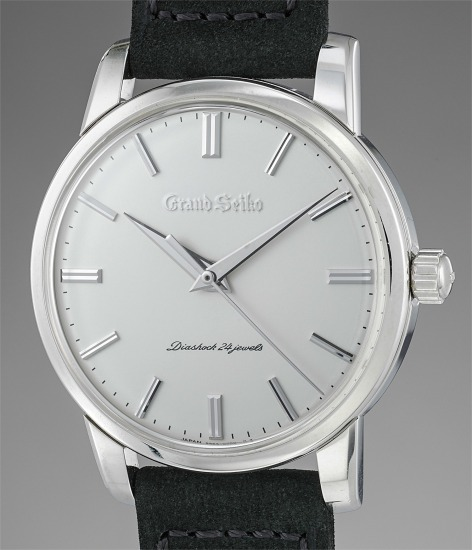 A very rare and attractive limited edition platinum wristwatch with 72-hour power reserve, guarantee and presentation box, made for the 130th anniversary of Grand Seiko