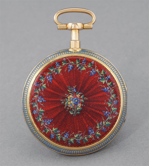 An historically important and rare enamel double case yellow gold quarter repeater pocket watch made for the Ottoman market