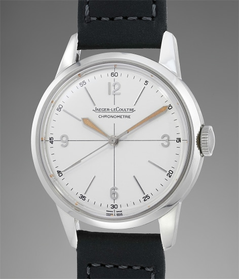 An exceptionally well-preserved stainless steel chronometer wristwatch with center seconds
