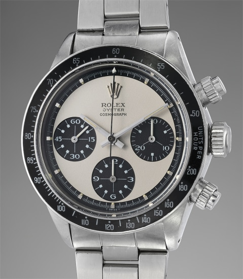 A very fine, extremely rare, and highly attractive stainless steel chronograph wristwatch with bracelet, original box and papers, retailed by Bucherer