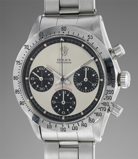 "A very fine, extremely rare, and attractive stainless steel chronograph wristwatch with ""Paul Newman"" dial"