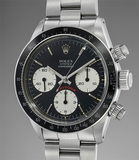 A fine and attractive stainless steel chronograph wristwatch with bracelet, unnumbered guarantee and box