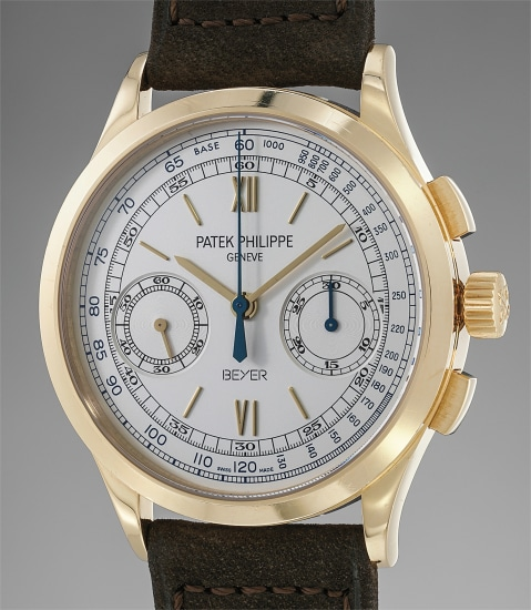 A very fine and rare yellow gold limited edition chronograph wristwatch with original certificate, additional case back and fitted presentation box, made to commemorate the 250th anniversary of Beyer Chronométrie Zürich