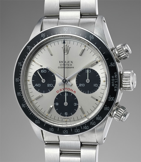 A fine stainless steel chronograph wristwatch with guarantee and box
