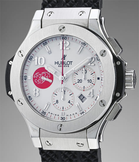 """A limited edition stainless steel and ceramic chronograph wristwatch made for the """"Association Suisse de Football"""""""