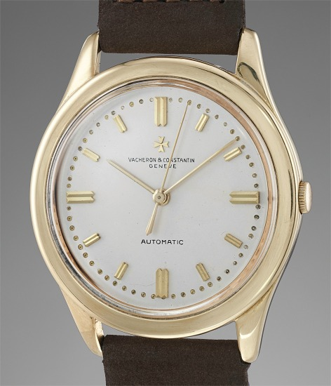A large, fine and attractive yellow gold wristwatch with center seconds