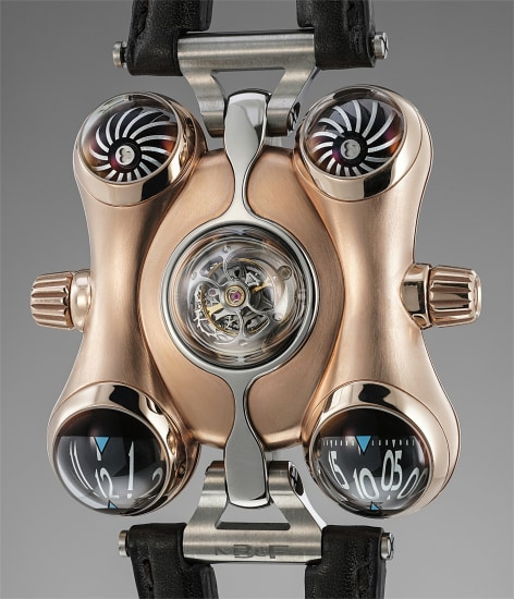 An unusual and rare limited edition tourbillon wristwatch in pink gold