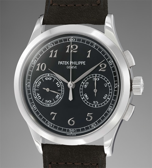 Patek Philippe A Rare And Attractive White Gold Chronograph