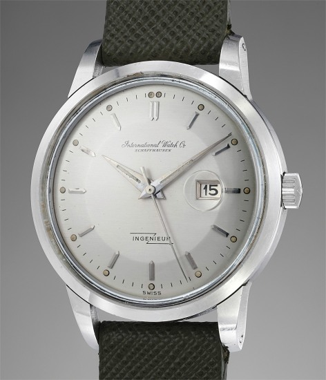 A fine and rare stainless steel automatic wristwatch with center seconds, luminous dial, date, guarantee and box