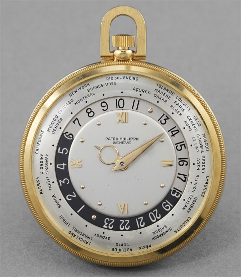 A very fine, rare and extremely well preserved worldtime openface watch
