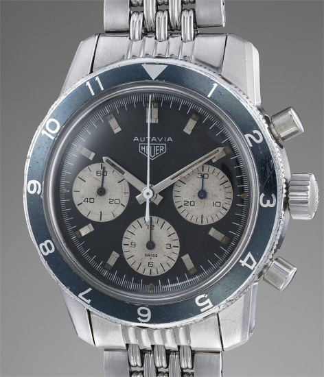 A rare and attractive stainless steel chronograph wristwatch made for the Argentinian Air Force