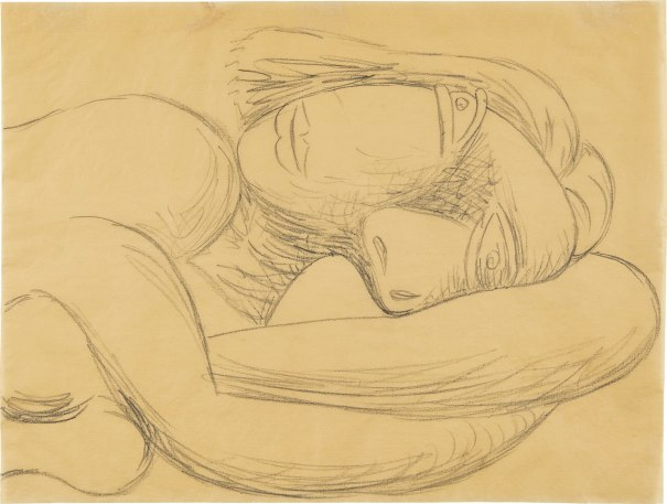 Femme en buste/ Buste de femme couchée