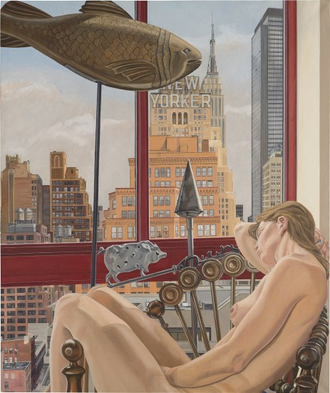 Model with Empire State Building