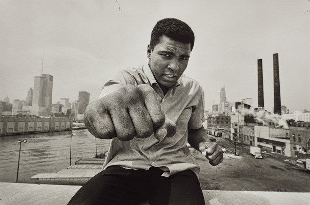 Muhammed Ali with fist, Chicago