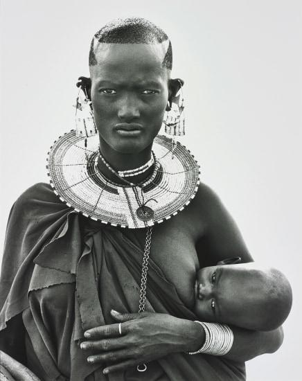 Maasai Woman and Child, Africa