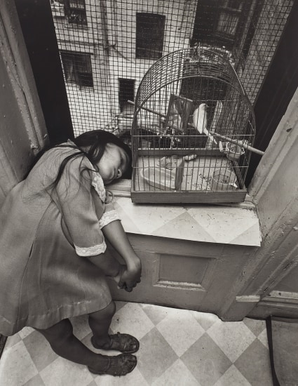 East 100th St, New York (Girl with birdcage)