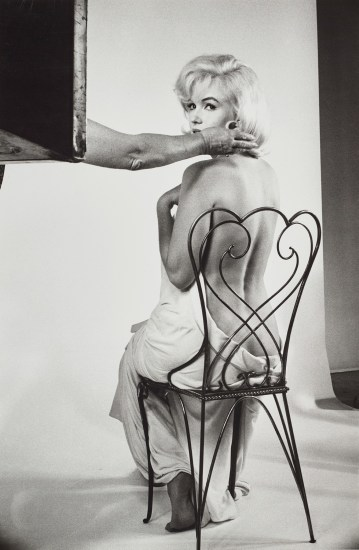 Marilyn Monroe during the filming of The Misfits