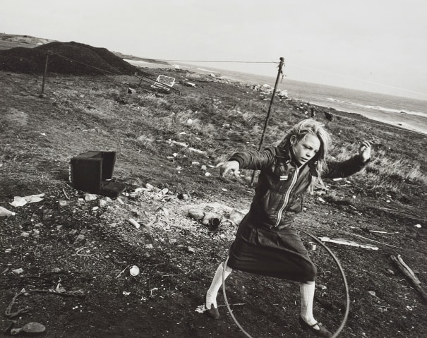Helen and Her Hula-hoop, Seacoal Camp, Lynemouth, Northumberland