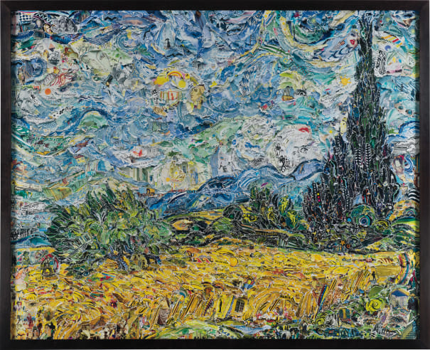 Wheat Field with Cypresses, after Van Gogh from Pictures of Magazines 2