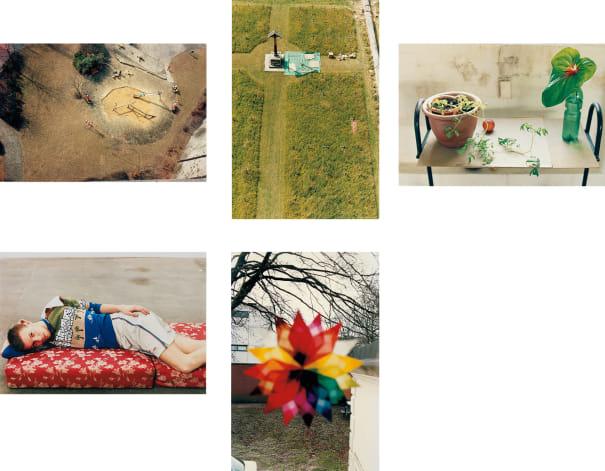 Five works: (i) playground, Luxembourg; (ii) charterhouse; (iii) still life, Herold Street; (iv) Volker, lying; (v) Weihnachtsstern