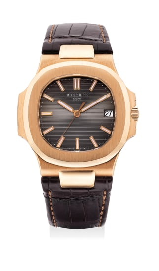 A fine and attractive pink gold automatic wristwatch with date, certificate and presentation box
