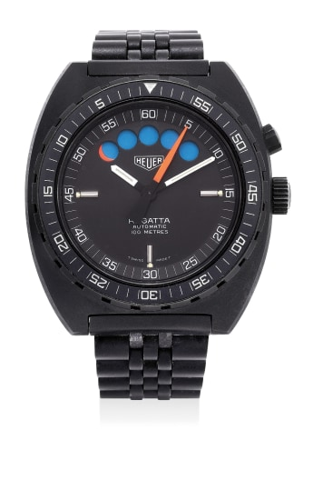 A fine PVD-coated stainless steel regatta chronograph wristwatch with bracelet