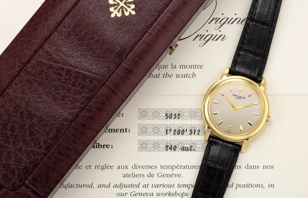 A fine and attractive yellow gold wristwatch with certificate of origin and presentation box